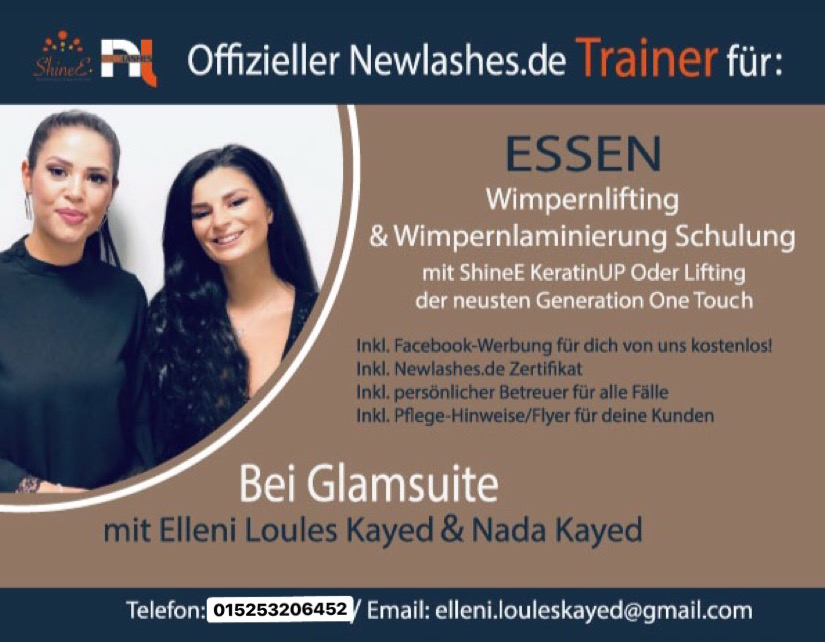 Wimpernlifting & Wimpernlaminierung Schulung by NewLashes.de / Brow Henna Deutschland
